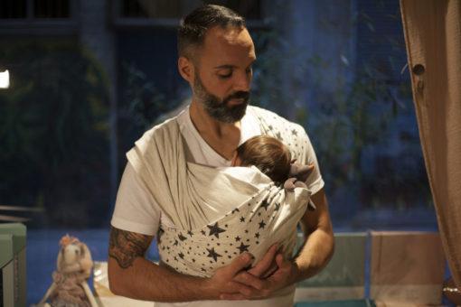 Echarpe de portage bebe face Skinhaptics