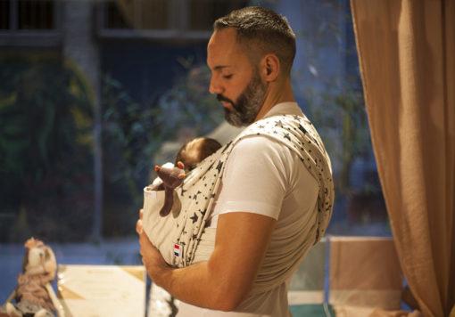 Echarpe de portage bebe papa Skinhaptics